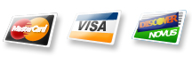 Mastercard, Visa, Discover Accepted